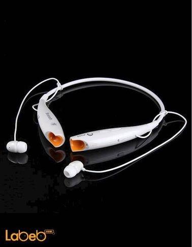 سماعات بلوتوث لاسلكية - صناعة صينية - لون ابيض - HV-800
