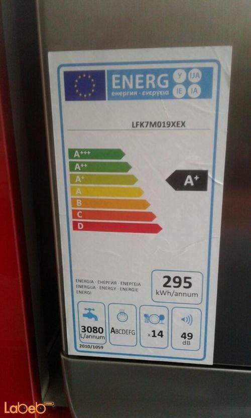 ARISTON dishwasher Specifications LFK7M019XEX
