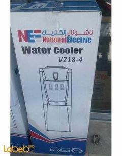 كولر ماء ناشونال الكتريك - ثلاث حنفيات - لون رمادي - موديل V218