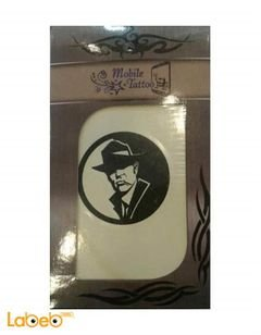 Mobile Tatto - cowboy man picture - White and Black color