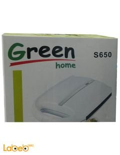 Green home Sandwich maker - 1400W - white color - S650 model