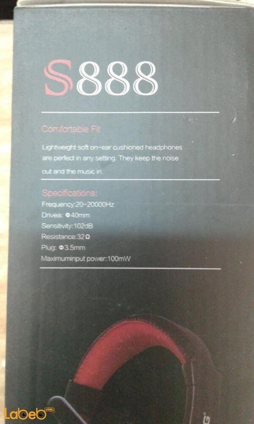 مواصفات سماعات رأس ستيريو Ovleng أسود S888