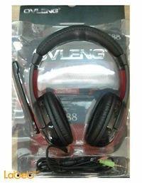 سماعات رأس ستيريو Ovleng أسود S888