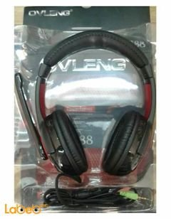 Ovleng stereo headphones - with Microphone - Black - S888