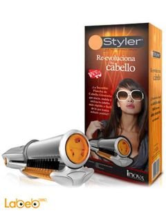 In styler Rotating Iron - Ceramic Technology - silver - 507 model