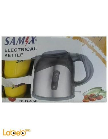 غلاية كهربائية سامكس - 2000 واط - فضي - كاسات للحار هدية - SLD-558