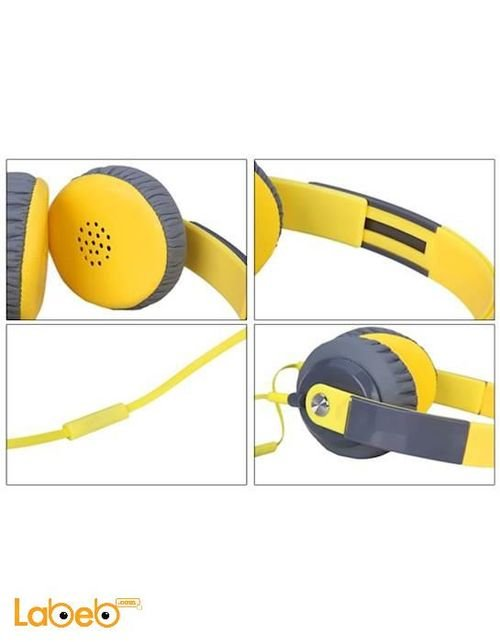 Yongle Headband Wired yellow color YL-EP12 model