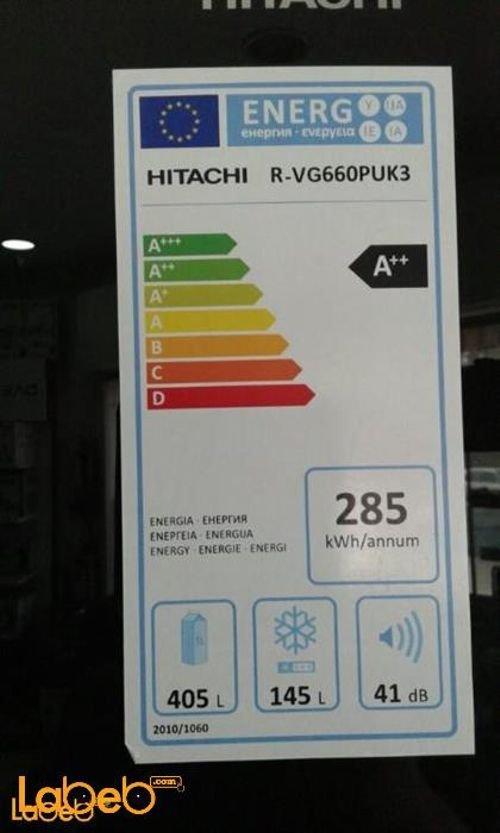 مواصفات ثلاجة هيتاشي حجم 30 قدم سعة 550 لتر اسود R-V660