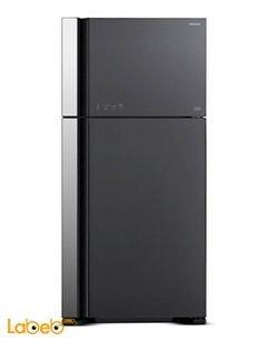 HITACHI refrigerator - 30CFT - 550 liters - Black - R-V660