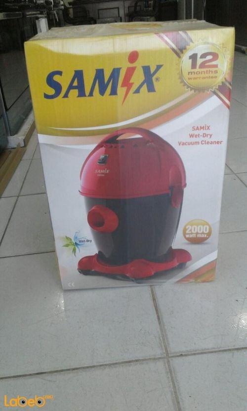 مكنسة كهربائية سامكس 12 لتر 2000 واط احمر SN7 SPRKRS 15