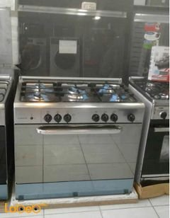 ARISTON free standing oven - 5 burner 90x60cm - stainless - 010n25