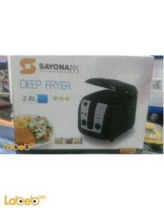 قلاية كهربائية سايونا - 2.8 لتر - 1800W - اسود - SAYONA SDF-4101