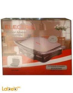 Electrn Panini Maker - 2000 Watt - Silver - El-5003A