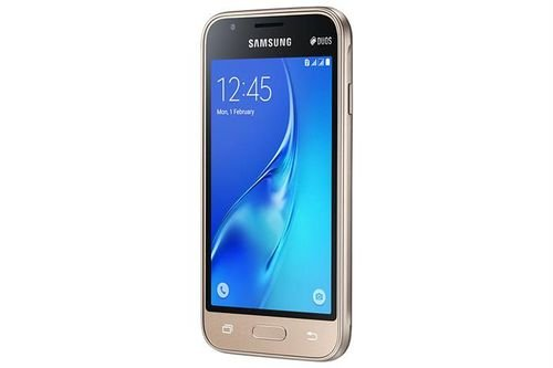 Samsung galaxy J1 mini smartphone screen Gold