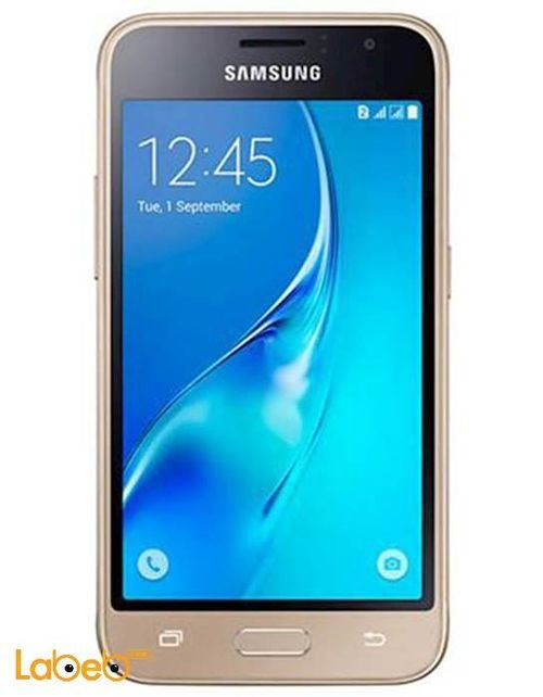 Gold Samsung galaxy J1 mini smartphone