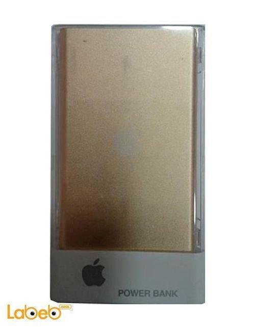 بطارية محمولة ابل 8000mAh منفذين USB ذهبي