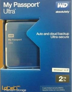 WD My Passport Ultra - 2TB - Blue - WDBMWV0020BBL-EESN