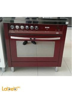 Lofra 5 burners gas oven - 90x60 cm - red color - PRG96GVT/C
