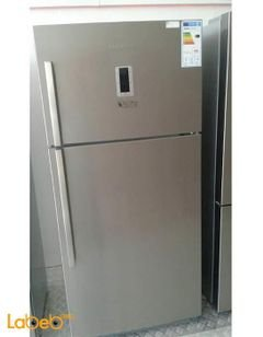 Blomberg Refrigerator top freezer - 533L - Silver - DND3972X