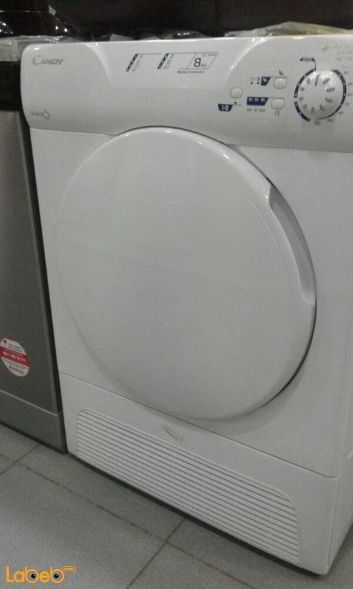 نشافة ملابس تحميل أمامي كاندي 8 كغم لون أبيض GCC 580NB -S