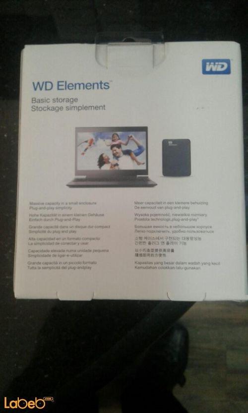هارديسك محمول وسترن ديجيتال 500 جيجابايت موديل WDBUZG5000ABK