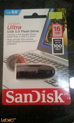 SanDisk Usb 3.0 Flash Drive - 16GB - usb 3.0 - Black color