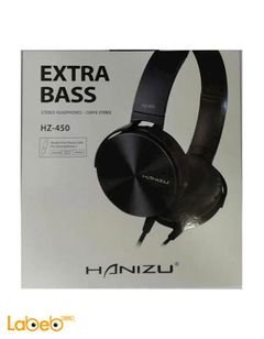 Hanizu Extra Bass Headphones - 1.1 meters - Black color - HZ-450