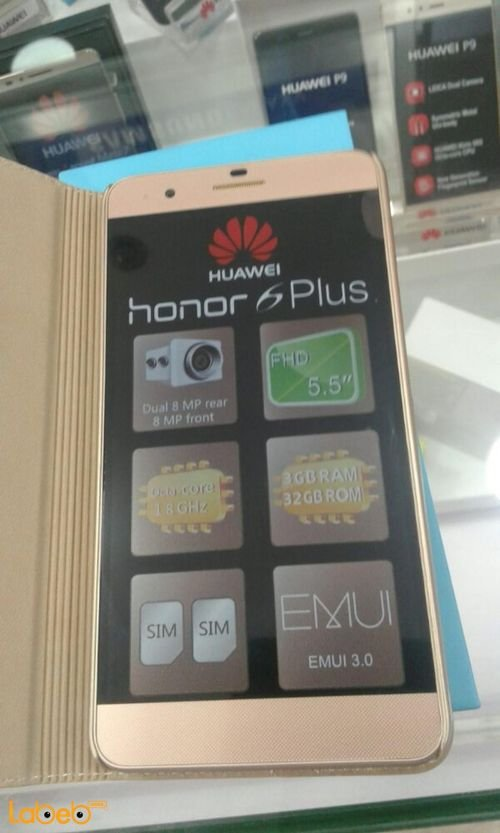 Huawei Honor 6 plus smartphone Gold