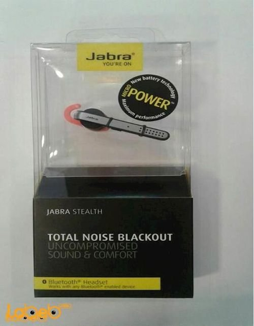 black and red color Jabra Stealth Bluetooth mono headset