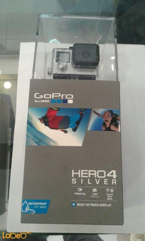 كاميرا جوبرو هيرو4 فضي HERO4