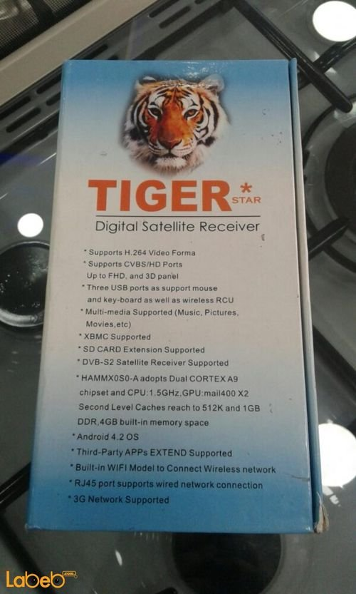 Tiger I3000 Android DVB-S2 Arabic IPTV Box Full HD 3D