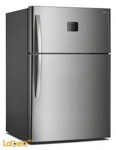 Daewoo Top Mount Refrigerator - 22CFT - 479L - silver - FGK-48ECG