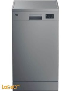 Beko dishwasher - 12 seats - silver color - DFN16210S