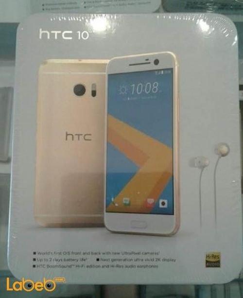 HTC 10 smartphone 32GB 12MP 5.2 inch Topaz Gold color
