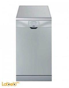 Smeg Dishwasher free standing - 5 programs - silver - LVS319S