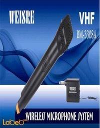 ميكروفون لا سلكي WEISRE لون اسود موديل VHF DM-3308A