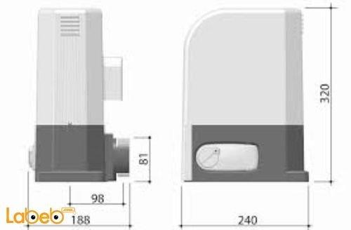 DEA Residential sliding gate operators 6RR-403E