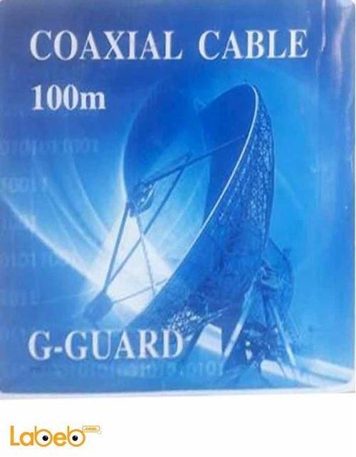كابل سلك فيديو G GUARD RJ6 اسود 100 متر Coaxial Cable RJ6