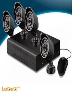 CnM CCTV System security kit - 1080p - 4 cameras - RC-141D model