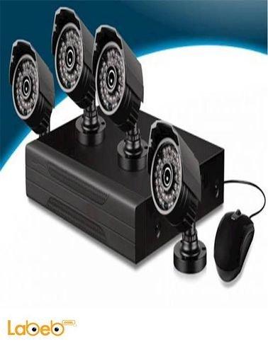 نظام كاميرات حماية CCTV CNM - دقة 1080 بكسل - 4 كاميرات - RC-141D