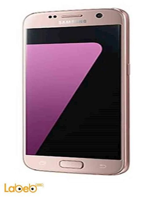 Samsung Galaxy S7 edge smartphone  pink Gold