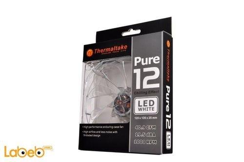 مروحة تبريد LED Thermaltake أبيض 12 سم CL-F020-PL12WT-A