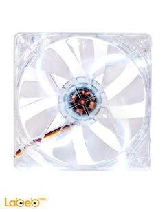 مروحة تبريد LED Thermaltake أبيض - 12 سم - CL-F020-PL12WT-A