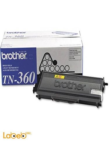 علبة حبر بروذر - لون أسود - تطبع حتى 2600 صفحة - TN-360