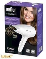 مجفف الشعر براون ساتين هير 3 2000 واط موديل HD380