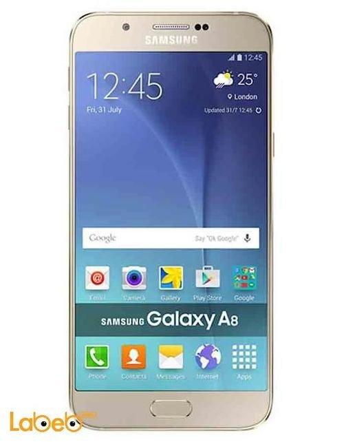 موبايل سامسونج جلاكسي A8 ذاكرة 16جيجابايت ذهبي Samsung A8