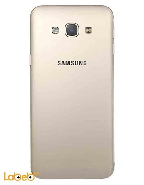 back Samsung Galaxy A8 smartphone gold Color