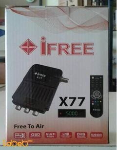 iFree X77 receiver - 2500 channels memory - Black - ifree X77