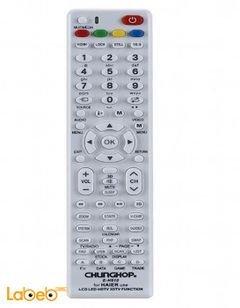 جهاز تحكم عن بعد للتلفاز هاير chunghop - لون أبيض - E-H910