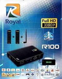 رسيفر رويال R100 فل اتش دي 5000 قناة ثري دي Royal R100